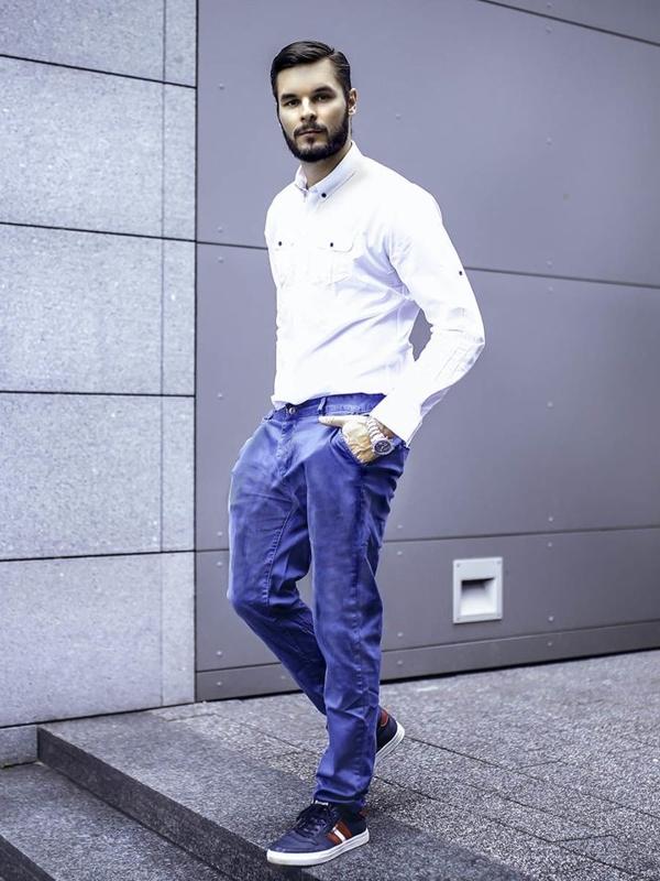 Stylizace č. 280 - hodinky, elegantní košile, chino kalhoty, obuv