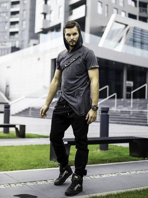 Stylizace č. 283 - hodinky, tričko, jogger kalhoty, tenisky