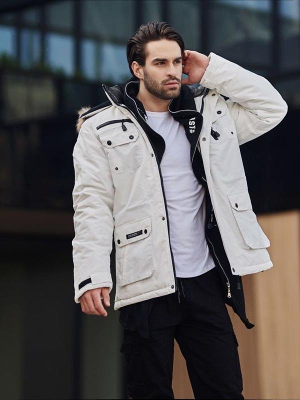 Stylizace č. 357 - zimní parka, mikina s kapucí, klasické tričko s dlouhým rukávem, kapáče