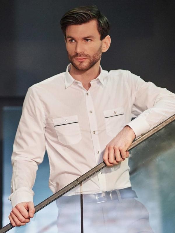 Stylizace č. 398 - elegantní košile, chino kalhoty