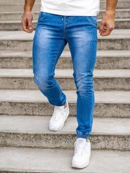 Tmavě modré pánské džínové jogger kahoty Bolf KA1721