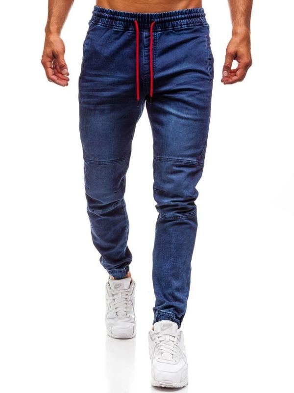 Tmavě modré pánské džínové jogger kalhoty Bolf Y270