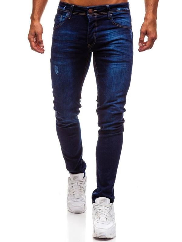 Tmavě modré pánské džínové kalhoty Bolf 1199