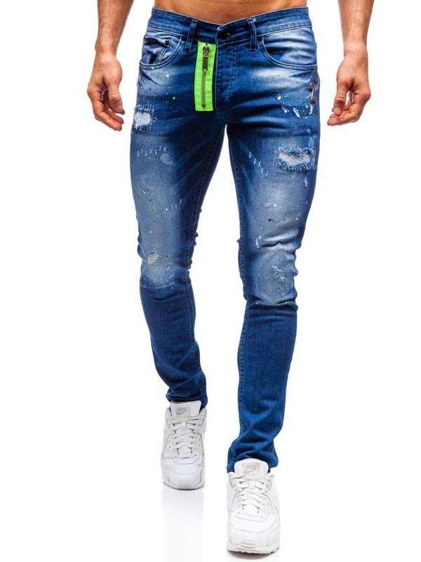 Tmavě modré pánské džíny Bolf 9236