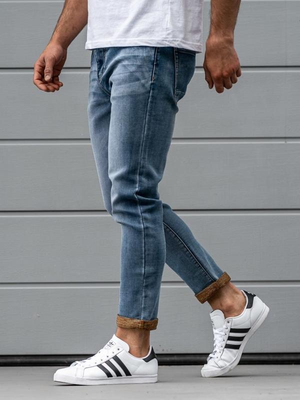 Tmavě modré pánské džíny Bolf KX163