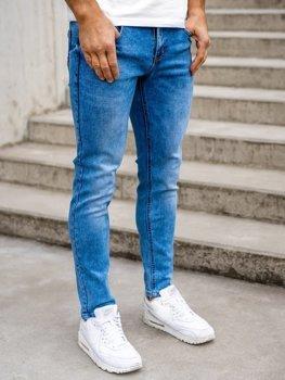 Tmavě modré pánské džíny skinny fit Bolf KX395