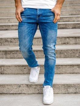 Tmavě modré pánské džíny skinny fit Bolf KX501