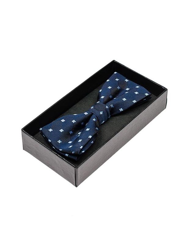 Tmavě modrý pánský elegantní motýlek Bolf M015