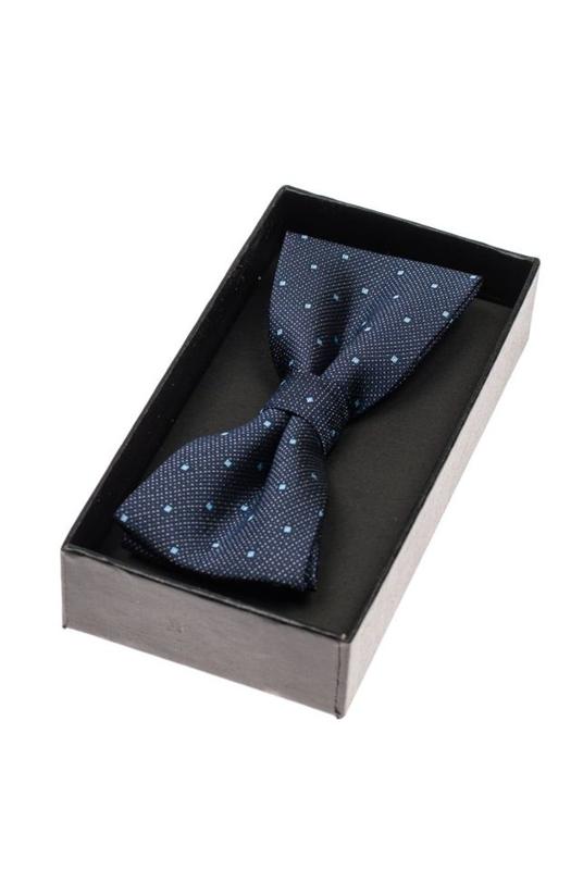 Tmavě modrý pánský elegantní motýlek Bolf M033