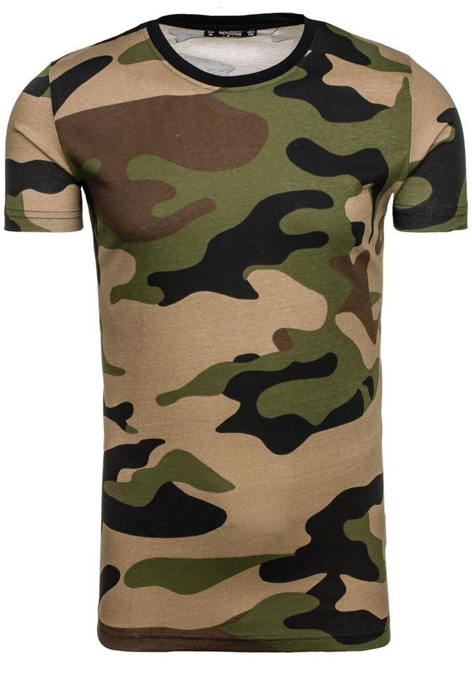 Maskáčové pánské tričko s potiskem Bolf 1091 38b4ffa8ce1