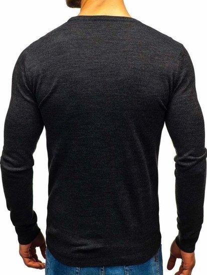 Antracitový pánský svetr Bolf 2300