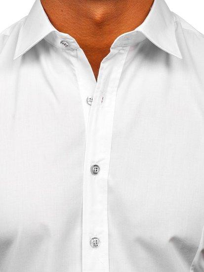 Bílá pánská elegantní košile s krátkým rukávem Bolf 7501