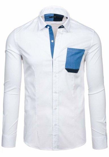 Bílá pánská košile Bolf 7192