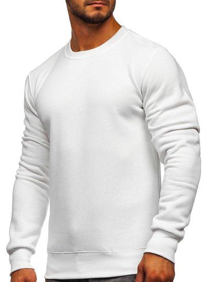 Bílá pánská mikina bez kapuce Bolf 2001