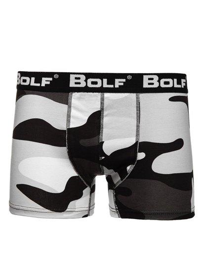 Bílé pánské boxerky Bolf 0953-2-3P 3 PACK