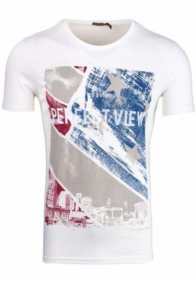 Bílé pánské tričko Bolf 7428