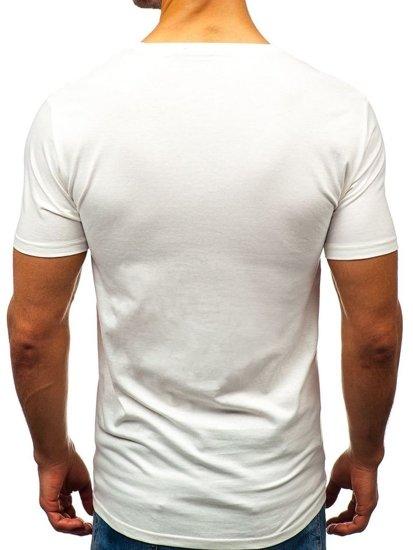 Bílé pánské tričko Bolf 7483