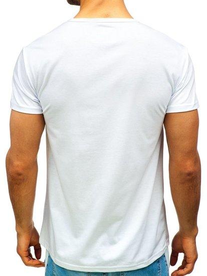 Bílé pánské tričko s potiskem Bolf 100683