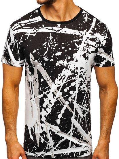 Bílé pánské tričko s potiskem Bolf 100788-1