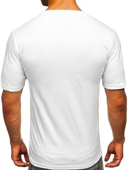 Bílé pánské tričko s potiskem Bolf 6303