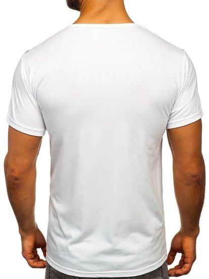 Bílé pánské tričko s potiskem Bolf KS1951