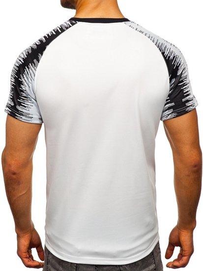 Bílé pánské tričko s potiskem Bolf KS2065