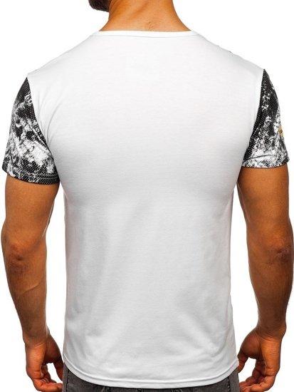 Bílé pánské tričko s potiskem Bolf SS10933