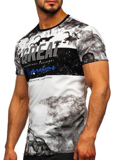 Bílé pánské tričko s potiskem Bolf SS11000