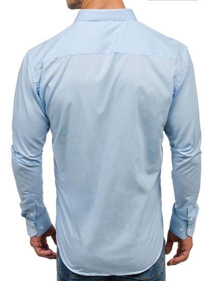 Blankytná pánská elegantní košile s dlouhým rukávem Bolf TS100