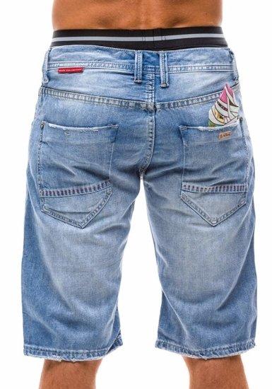 Blankytné džínové kraťasy Bolf 1059