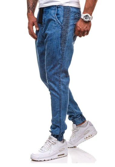 Blankytné pánské džínové jogger kalhoty Bolf 4449
