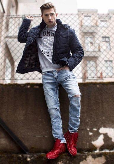 Blankytné pánské džíny Bolf 272