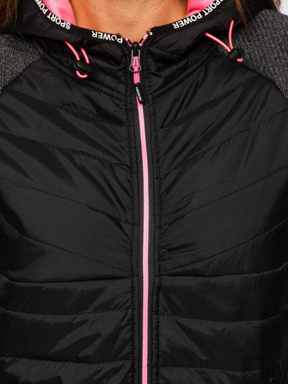 Černá dámská sportovní přechodová bunda Bolf KSW4004