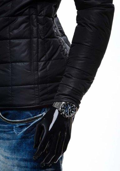 Černá pánská přechodová husky bunda Bolf 002