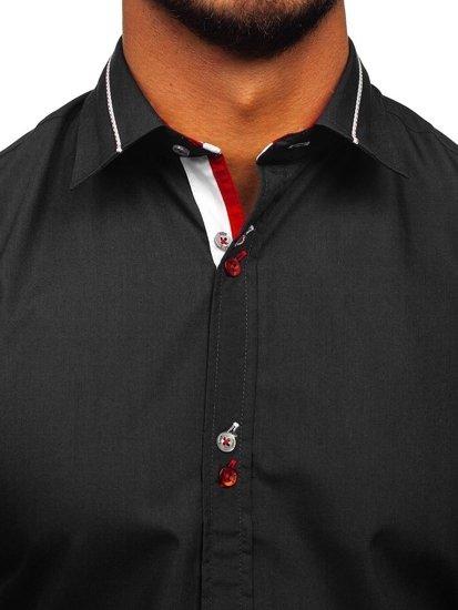 Černá pánská elegantní košile s dlouhým rukávem Bolf 5826