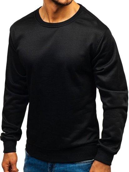 Černá pánská mikina bez kapuce Bolf 22003