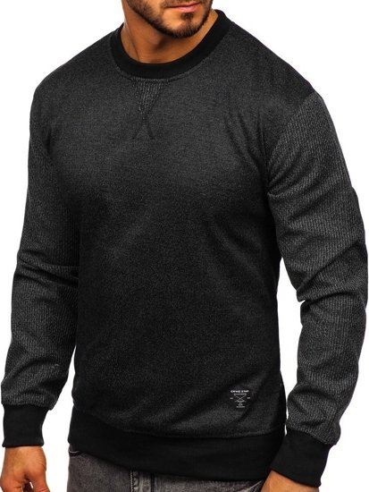 Černá pánská mikina bez kapuce Bolf 3672