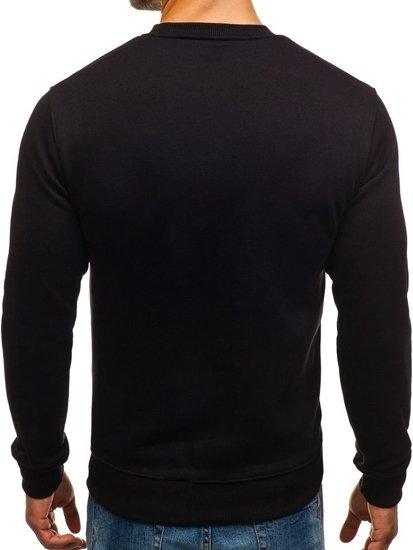 Černá pánská mikina bez kapuce s potiskem Bolf 0526