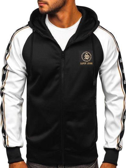 Černá pánská mikina na zip s kapucí Bolf HM196