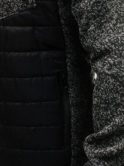 Černá pánská sportovní přechodová bunda Bolf AK62