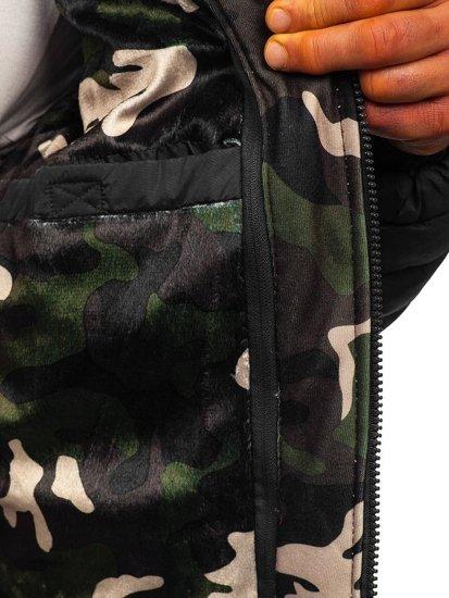 Černá pánská sportovní zimní bunda Bolf 50A462