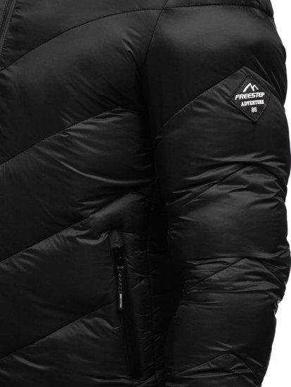 Černá pánská sportovní zimní bunda Bolf AB100