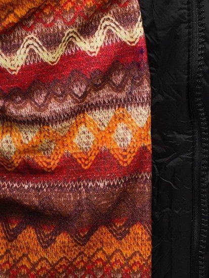 Černá pánská vesta s kapucí Bolf 7532