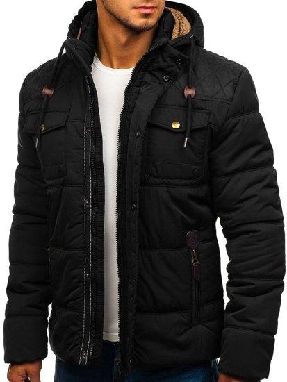 Černá pánská zimní bunda Bolf 1665
