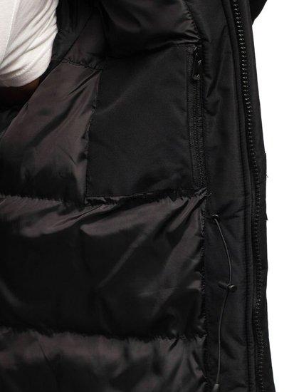 Černá pánská zimní bunda Bolf 201813