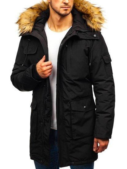 Černá pánská zimní bunda Bolf 201816