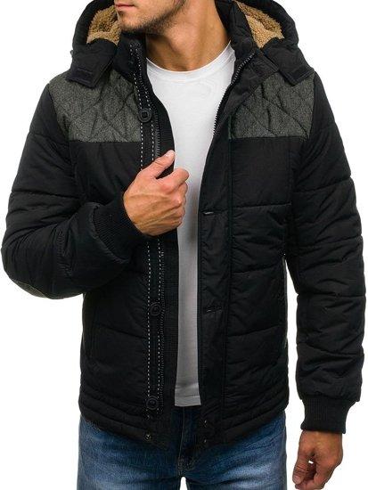 Černá pánská zimní bunda Bolf 3107