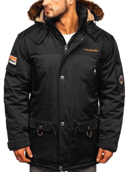 Černá pánská zimní bunda Bolf 40014