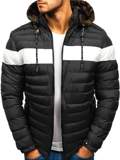 Černá pánská zimní bunda Bolf A410