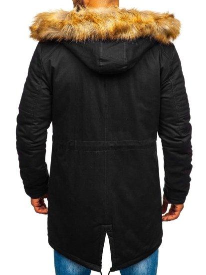 Černá pánská zimní parka Bolf JK390